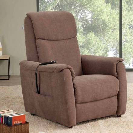 Single motor riser recliner chair Via Milano