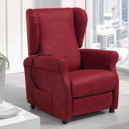 Riser recliner armchair, single motor, Via Verona, made in Italy, modern design