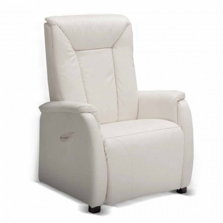 Recliner Armchair, Dual motor, Rosa, modern design made in Italy