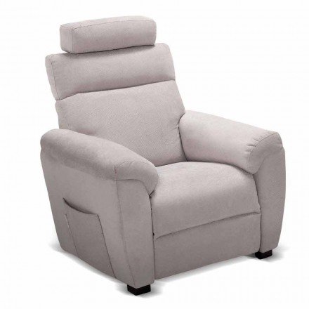 Riser armchair Crisa, with fabric/leather/faux leather upholstery