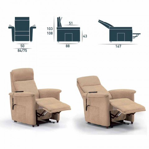 Relax armchair with 1 door engine spreader Via Firenze