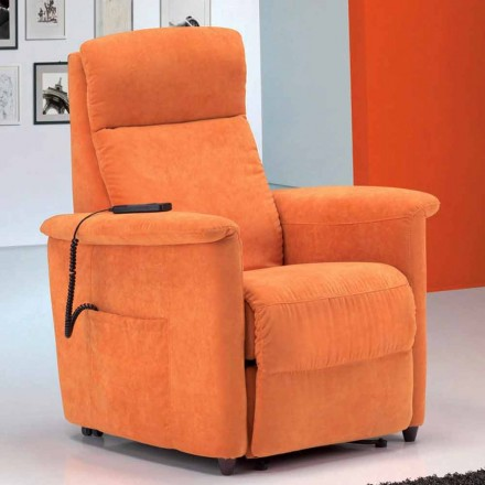 Modern recliner armchair, Via Firenze, single motor