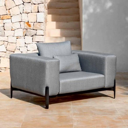 Relax Garden Armchair Aluminum and Fabric, Design in 3 Finishes - Filomena