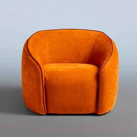 Relax Armchair Modern Design Made in Italy in Colored Fabric - Baloo