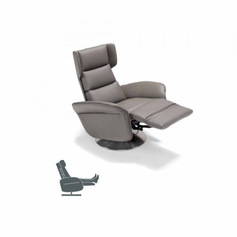 Design Relax Fauteuil.Dual Motor Swivel Relaxing Armchair Bao Modern Design Made In Italy