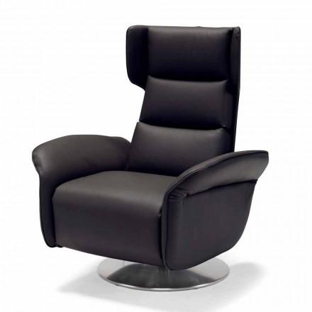 Dual motor swivel relaxing armchair Bao, modern design made in Italy