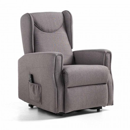 Recliner Armchair with Person Lift System with 2 Motors - Nathalie