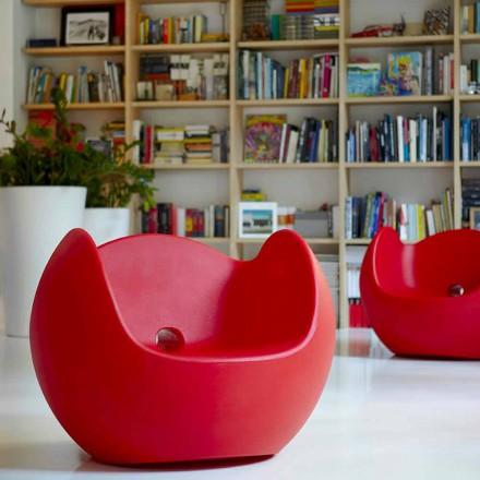 Design garden / indoor rocking armchair Slide Blos, made in Italy