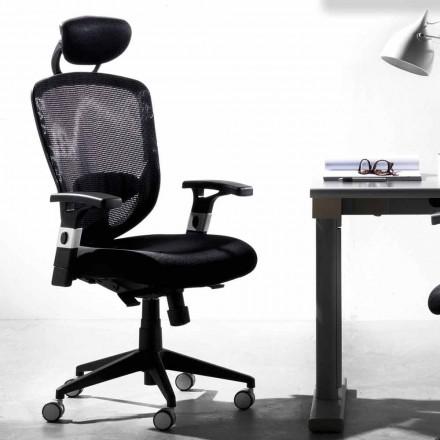 Directional and Operational Rotating Modern Black Chair – Simona