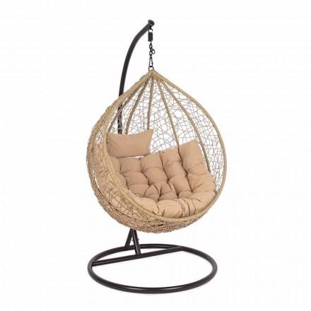 Suspended Garden Armchair in Steel for Outdoor Luxury Design - Foam
