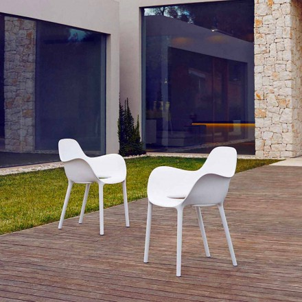 Garden armchair in polypropylene, Sabinas collection by Vondom