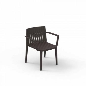Modern garden armchair Spritz by Vondom, in polypropylene