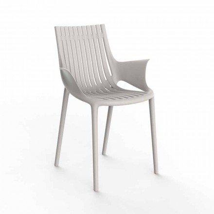 Outdoor Stackable Plastic Dining Armchair 4 Pieces - Ibiza by Vondom