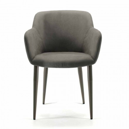 Made in Italy fabric or leather lounge chair, 4 pieces - Bardella
