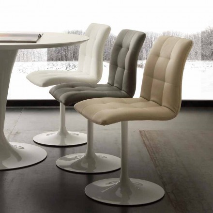 Swivel chair Valencia, made of steel and ecological leather