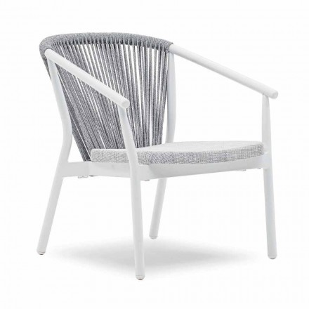 Stackable Garden Armchair Aluminum and Fabric - Smart By Varaschin