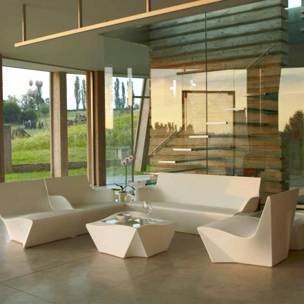 Modern design lounge armchair Slide Kami Ichi, produced in Italy