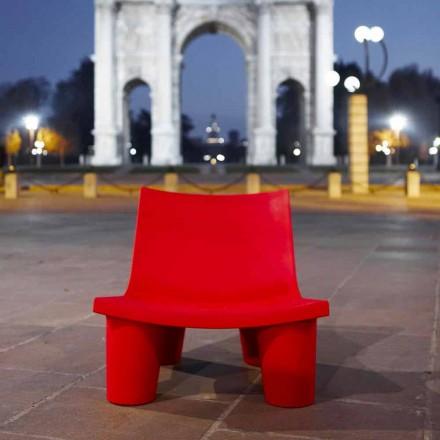 Colored outdoor / indoor armchair Slide Low Lita made in Italy