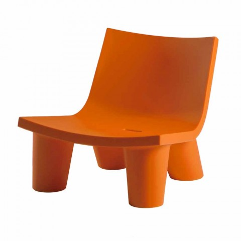 Sliding design lounge chair Low Lita colored made in Italy
