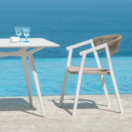 Key lunch stackable seat for garden by Talenti with armrests