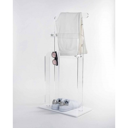 Bathroom towel rack in plexiglass PMMA, Zanica