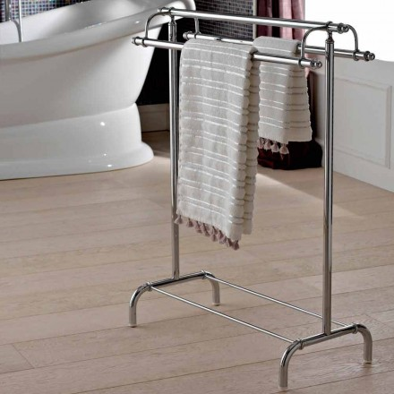 Floor Towel Holder in Classic Style Brass Made in Italy - Umaima