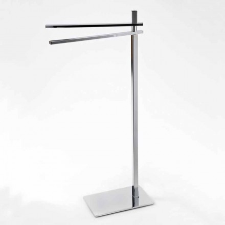 Modern Towel Rack with 2 Iron Arms Made in Italy - Cali