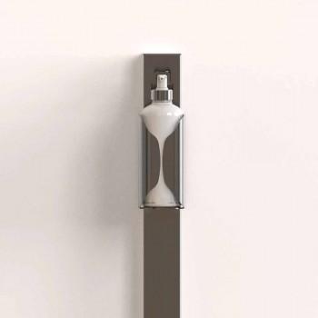 Column Dispenser Holder in Luxury Black or Gold Steel Made in Italy - Giovina