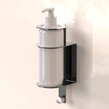 Chrome or Glossy Black Wall Dispenser Holder with or without Shoplifting - Adelchisa