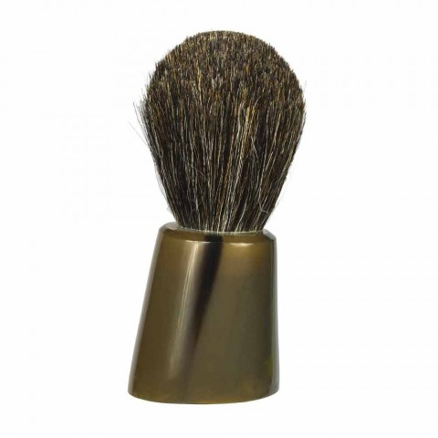 Shaving Brush Holder in Ox Horn and Steel Made in Italy - Diplo