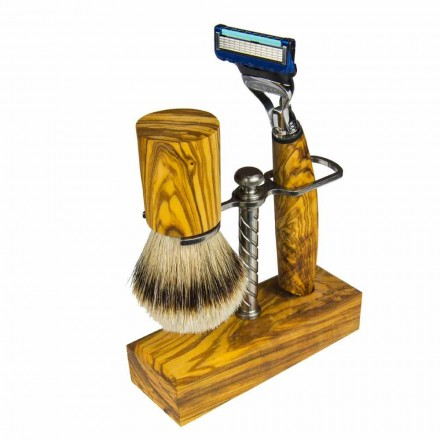 Razor Holder and Shaving Brush, Made in Italy Artisan Product - Diplo