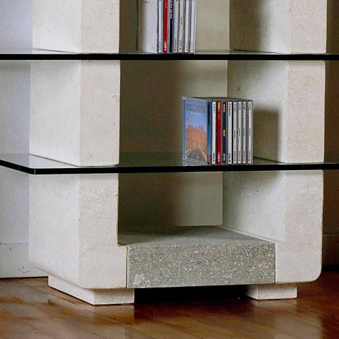 Porta Hi Fi Design.Hi Fi Tv Stand Made Of Vicenza Natural Stone And Crystal Xeni