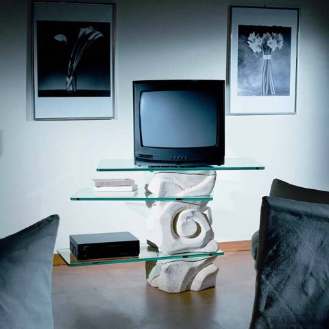 Design Porta Tv.Classic Tv Table Made Of Vicenza Natural Stone And Crystal Agape