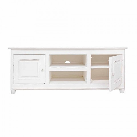 Classic Style TV Stand with Homemotion Mango Wood Structure - Renga