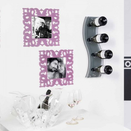 Fumé wall mounted wine rack Serry Small L26,5xH60xP9 cm, modern design