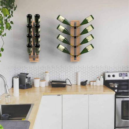 Wall mounted suspended bottles holder Zia Gaia