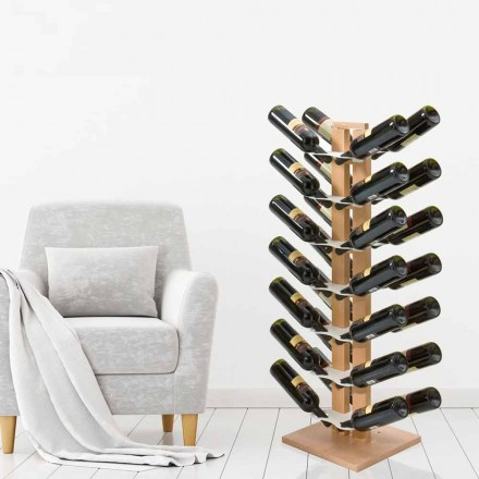 Two-sided freestanding bottles holder Zia Gaia