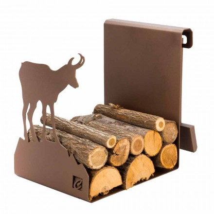 Indoor Steel Firewood Holder Made in Italy – Stambecco