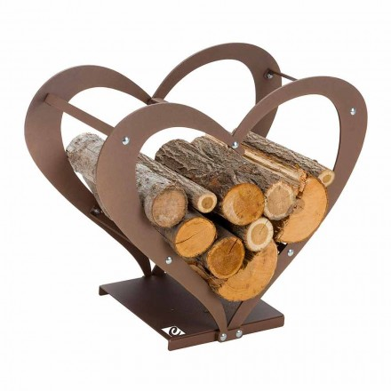 Design Indoor Steel Firewood Holder Made in Italy – Cuore