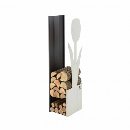 Modern Indoor Wood Log Holder Made in Italy - Maestrale2