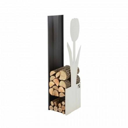Indoor firewood holder for fireplace made of steel Caf Design PLV F