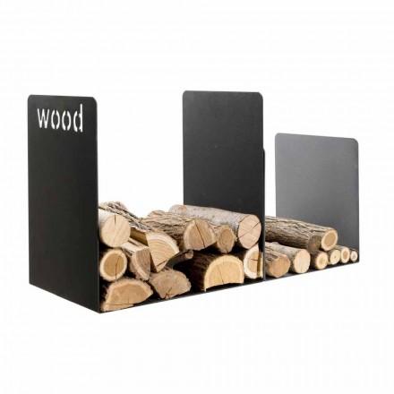 Indoor firewood holder made of steel PLW by Caf Design, modern design