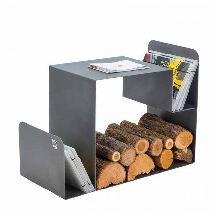 Indoor Steel Firewood Holder Made in Italy – Kubo