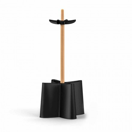 Umbrella stand Nurri, made of natural beechwood and polypropylene