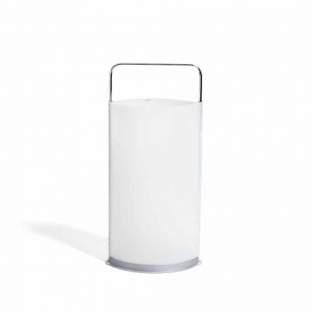 Umbrella stand Piero, modern design, pearl white polypropylene