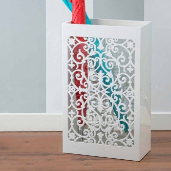Modern Design Wooden Umbrella Stand with Arabic Decorations in Colored Wood - Dubai