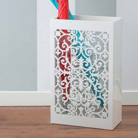 Modern Design Colored Wooden Umbrella Stand with Arabic Decorations - Dubai