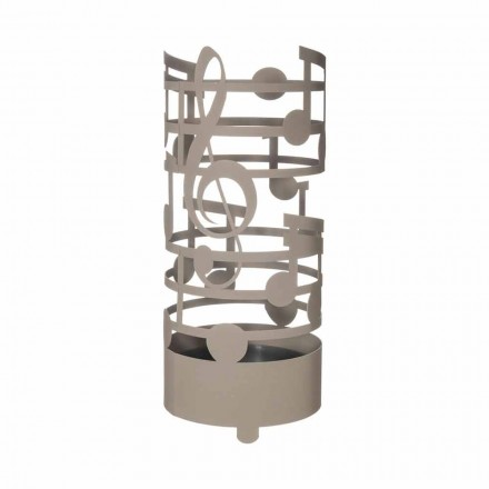 Modern Umbrella Stand with Iron Musical Notes Made in Italy - Vessicchio