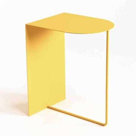 Modern Floor Magazine Rack in Colored Steel Made in Italy - Marinella