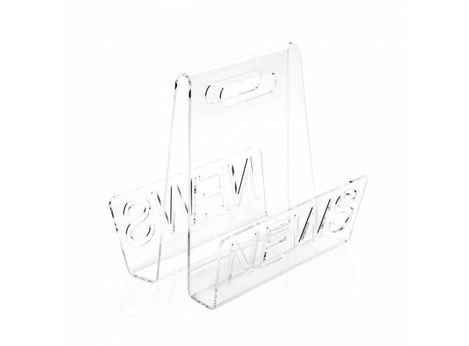 Black or Transparent Plexiglass Design Magazine Rack Made in Italy - Omar